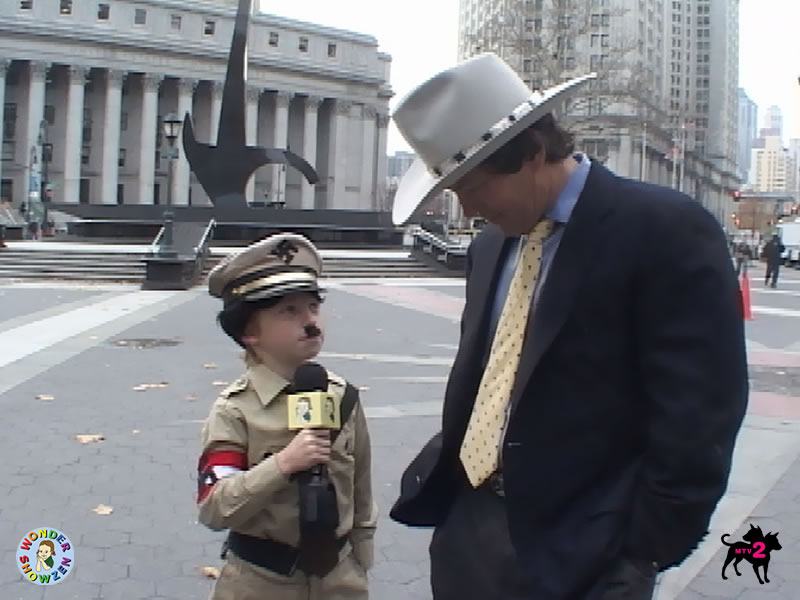 Monkey Dressed as Hitler a Kid Dressed as Hitler